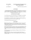 Quyết định số 104/QĐ-BTC