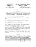 Quyết định số 124/2012/QĐ-UBND