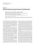 "Báo cáo hóa học: ""Editorial Advanced Signal Processing Techniques for Bioinformatics"""