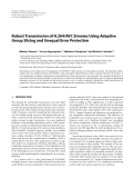 """Báo cáo hóa học: """" Robust Transmission of H.264/AVC Streams Using Adaptive Group Slicing and Unequal Error Protection"""""""