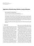 "Báo cáo hóa học: ""Application of Beamforming in Wireless Location Estimation"""