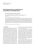 """Báo cáo hóa học: """" FPGA Implementation of an MUD Based on Cascade Filters for a WCDMA System"""""""