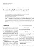 "Báo cáo hóa học: ""  Generalized Sampling Theorem for Bandpass Signals Ales Prokes"""