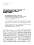 """Báo cáo hóa học: """"  Space-Time Joint Interference Cancellation Using Fuzzy-Inference-Based Adaptive Filtering Techniques in Frequency-Selective Multipath Channels"""""""