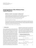 "Báo cáo hóa học: "" Partial Equalization of Non-Minimum-Phase Impulse Responses"""