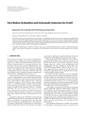 """Báo cáo hóa học: """" Fast Motion Estimation and Intermode Selection for H.264"""""""