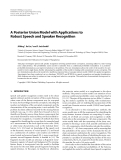 """Báo cáo hóa học: """" A Posterior Union Model with Applications to Robust Speech and Speaker Recognition"""""""
