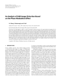 """Báo cáo hóa học: """"An Analysis of ISAR Image Distortion Based on the Phase Modulation Effect"""""""