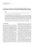 "Báo cáo hóa học: "" Least-Square Prediction for Backward Adaptive Video Coding"""