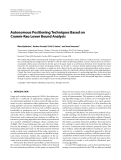 "Báo cáo hóa học: "" Autonomous Positioning Techniques Based on ´ Cramer-Rao Lower Bound Analysis"""