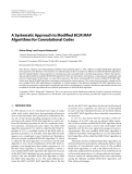 """Báo cáo hóa học: """"A Systematic Approach to Modified BCJR MAP Algorithms for Convolutional Codes"""""""
