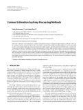 "Báo cáo hóa học: "" Contour Estimation by Array Processing Methods"""