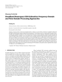"""Báo cáo hóa học: """" Research Article Broadband Beamspace DOA Estimation: Frequency-Domain and Time-Domain Processing """""""