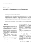 """Báo cáo hóa học: """" Research Article Noniterative Design of 2-Channel FIR Orthogonal Filters"""""""