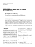 """Báo cáo hóa học: """" Research Article New Approaches for Channel Prediction Based on Sinusoidal Modeling"""""""