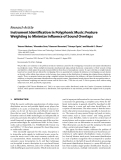 """Báo cáo hóa học: """" Research Article Instrument Identification in Polyphonic Music: Feature Weighting to Minimize Influence of Sound Overlaps"""""""