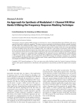 "Báo cáo hóa học: ""  Research Article An Approach for Synthesis of Modulated M-Channel FIR Filter Banks Utilizing the Frequency-Response Masking Technique"""