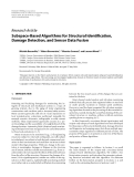"""Báo cáo hóa học: """"  Research Article Subspace-Based Algorithms for Structural Identification, Damage Detection, and Sensor Data Fusion"""""""