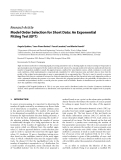 """Báo cáo hóa học: """"  Research Article Model Order Selection for Short Data: An Exponential Fitting Test (EFT)"""""""