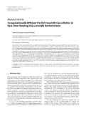 "Báo cáo hóa học: ""  Research Article Computationally Efficient Partial Crosstalk Cancellation in Fast Time-Varying DSL """