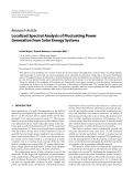 """Báo cáo hóa học: """" Research Article Localized Spectral Analysis of Fluctuating Power Generation from Solar Energy Systems"""""""