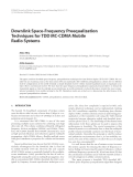 """Báo cáo hóa học: """" Downlink Space-Frequency Preequalization Techniques for TDD MC-CDMA Mobile Radio Systems"""""""