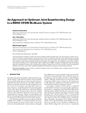 "Báo cáo hóa học: "" An Approach to Optimum Joint Beamforming Design in a MIMO-OFDM Multiuser System"""