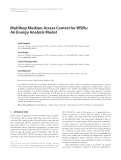 "Báo cáo hóa học: "" Multihop Medium Access Control for WSNs: An Energy Analysis Model"""