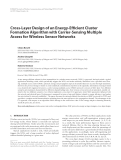 """Báo cáo hóa học: """" Cross-Layer Design of an Energy-Efficient Cluster Formation Algorithm with Carrier-Sensing Multiple Access for Wireless Sensor Networks"""""""