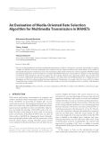 "Báo cáo hóa học: ""  An Evaluation of Media-Oriented Rate Selection Algorithm for Multimedia Transmission in MANETs"""