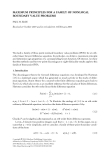 MAXIMUM PRINCIPLES FOR A FAMILY OF NONLOCAL BOUNDARY VALUE PROBLEMS PAUL W. ELOE Received 21 October