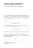 NONOSCILLATORY HALF-LINEAR DIFFERENCE EQUATIONS AND RECESSIVE SOLUTIONS ˇ ´ MARIELLA CECCHI,