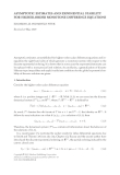 ASYMPTOTIC ESTIMATES AND EXPONENTIAL STABILITY FOR HIGHER-ORDER MONOTONE DIFFERENCE EQUATIONS ´