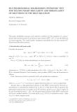 MULTIDIMENSIONAL KOLMOGOROV-PETROVSKY TEST FOR THE BOUNDARY REGULARITY AND IRREGULARITY OF SOLUTIONS