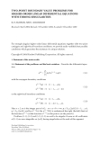 TWO-POINT BOUNDARY VALUE PROBLEMS FOR HIGHER-ORDER LINEAR DIFFERENTIAL EQUATIONS WITH STRONG