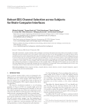 """Báo cáo hóa học: """"  Robust EEG Channel Selection across Subjects for Brain-Computer Interfaces"""""""