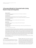 "Báo cáo hóa học: "" A Perceptual Model for Sinusoidal Audio Coding Based on Spectral Integration"""