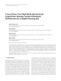 """Báo cáo hóa học: """" A Low-Power Two-Digit Multi-dimensional Logarithmic Number System Filterbank Architecture for a Digital Hearing Aid"""""""