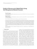 "Báo cáo hóa học: "" Design of Nonrecursive Digital Filters Using the Ultraspherical Window Function"""