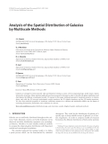 """Báo cáo hóa học: """" Analysis of the Spatial Distribution of Galaxies by Multiscale Methods"""""""