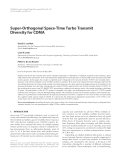 "Báo cáo hóa học: ""  Super-Orthogonal Space-Time Turbo Transmit Diversity for CDMA"""