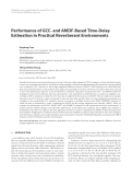 """Báo cáo hóa học: """" Performance of GCC- and AMDF-Based Time-Delay Estimation in Practical Reverberant Environments Jingdong Chen"""""""