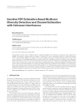 """Báo cáo hóa học: """"  Iterative PDF Estimation-Based Multiuser Diversity Detection and Channel Estimation with Unknown """""""