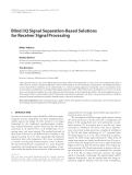 "Báo cáo hóa học: "" Blind I/Q Signal Separation-Based Solutions for Receiver Signal Processing"""