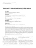 "Báo cáo hóa học: "" Adaptive DFT-Based Interferometer Fringe Tracking Edward Wilson"""