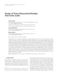 "Báo cáo hóa học: ""  Design of Three-Dimensional Multiple Slice Turbo Codes David Gnaedig"""
