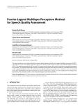 "Báo cáo hóa học: "" Fourier-Lapped Multilayer Perceptron Method for Speech Quality Assessment"""