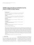 """Báo cáo hóa học: """" SPAIDE: A Real-time Research Platform for the Clarion CII/90K Cochlear Implant"""""""