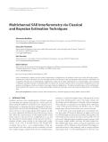 "Báo cáo hóa học: "" Multichannel SAR Interferometry via Classical and Bayesian Estimation Techniques"""