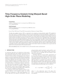 "Báo cáo hóa học: "" Time-Frequency Analysis Using Warped-Based High-Order Phase Modeling"""